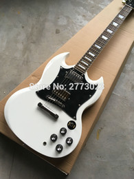 Wholesale Guitar Pickups High - High Quality S.G G 400 Electric guitar with 3 Pickups,Cream White color, All Color are available,Real photo shows
