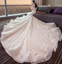 Wholesale Beaded Silk Taffeta Ball Gowns - Real photos custom made wedding dresses 2017 new products for women wedding gowns with train