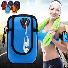 Wholesale Wrist Pouches - Universal Sports Running Arm Pouch Bag For Samsung Galaxy s9 S8 Case GYM Hiking Waterproof Sport Wrist Bags for Smart Phone Case Cover