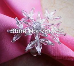 Wholesale Cheap Napkin Holders - Wholesale- napkin rings clear acrylic snowflake, napkin holder cheap