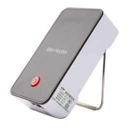 Wholesale Black Electric Fan - Portable Mini Heater Hand Electric Air Warmer Heating Winter Keep Warm Desk Fan Heater for Office Home Grey