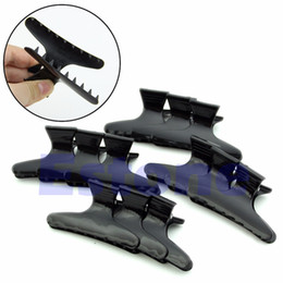 Wholesale Hair Claws Clamps - Wholesale- 12 piecesHairdressers Hairdressing Butterfly Hair Claw Salon Section Clip Clamps