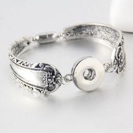 Wholesale Bracelet Directions - 2016 Magnet Bohemian watches Women Jewelry One Direction Pulseras Newest Vintage 18mm metal ginger Snap Button Bracelet B267
