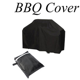Wholesale Clean Shield - Wholesale- Waterproof BBQ Grill Black Cover Garden Patio Rain Anti Dust Proof Barbecue Party Protecter Shield