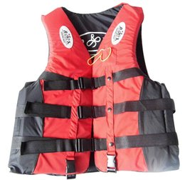 Wholesale Xxl Men S Swimwear - Wholesale- s-xxl life vest life jacket for adult child safety fishing cloth outdoor water survival equipment in swimwear fly fishing vest