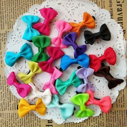 "Wholesale Small Hair Accessories - 100pcs lot 1.4"" Handmade Colorful Small Bow Baby Kids Children Girls Barrettes Alligator Hair Clips Hairpins hair accessories"