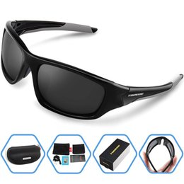 Wholesale Fish Goggles - Wholesale- Men Summer Outdoor Polarized Sports Sunglasses For Running Fishing Golf TR90 Unbreakable Frame Fashion Sport Eyewear