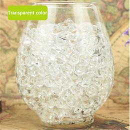 Wholesale vase pearls - Wholesale- 1000pcs Water Plant Flower Jelly Crystal Soil Mud Water Pearls Gel Beads Balls Decoration Vase Crystal Free Shipping EN639-3
