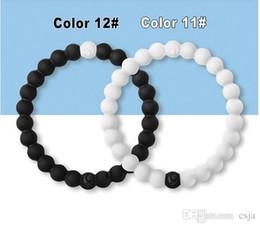 Wholesale Silicone Bracelet Balance - CSJA 56 Color Silicone Jelly Bracelets Brand New Tag Bangles S M L XL Healing Balance Jewelry Men Women Glow Bracelet Wristband T001