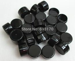 Wholesale Mini Plastic Jars Free Shipping - Wholesale- Wholesale 100 pc lot 5g Black Cream jar 5ml Empty pp jars Mini sample jar refillable Cosmetic Packing container free shipping