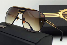 Wholesale Vintage Round Sunglasses Gold - new men brand sunglasses armada men sunglasses metal frame retro vintage stryle square shape gold plated UV400 lens top quality