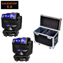 Wholesale rotating dj disco lights - 2IN1 Roadcase Pack 2x CREE RGBW 4in1 LED Beam Moving Head Spider Flying DJ Disco Light Pan Spider Endless Rotate Wedding Light