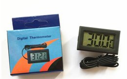 Wholesale Thermometer Cable - LCD Digital Temperature Meter Controller for Freezer Indoor Outdoor Thermometer with 1 Meter Cable With Retail Box