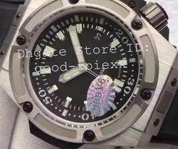 Wholesale 48mm Mens Watches - Super HBB V6 Factory Mens Automatic Movement Asia 7750 Watch Men Black Dial King Titanium Diver 4000M Rubber Eta Watches 48mm Wristwatches