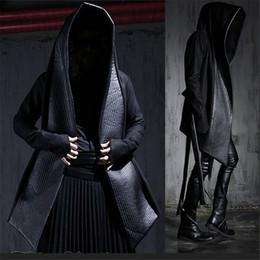 Wholesale Cheap Black Trench Coat Men - Wholesale- New listing 2015 Harajuku Cheap Mens Pea Coat With Hood Korean Windbreaker Long Black Trench Coat Men Slim Fit Leather Jackets