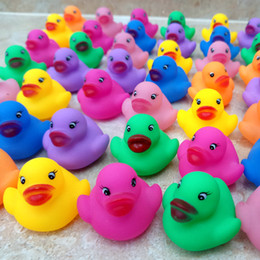 Wholesale Duck Big - 12pcs pack Bath Toys Shower Water Floating Squeaky Rubber Ducks Colorful Bath Toys Children Water Swimming Funny Newborn Toy