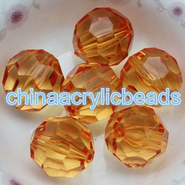 Wholesale Plastic Faceted Round Beads - New Fashion 1000Pcs 8MM Clear Faceted Round Gumball Beads Acrylic Plastic Bubblegum Beads Charms For Jewelry Making