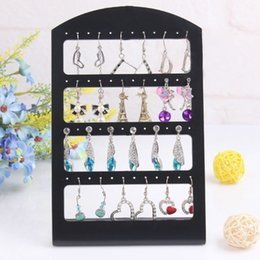 Wholesale 24 Pair Earring Holder - Newest Plastic Display Rack Stand Holder Organizer 24 Pairs 48 Holes Earrings Jewelry Show Accessories CX17