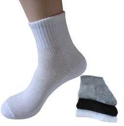 Wholesale Long Socks For Women - Wholesale-socks long mesh type hot !! High cotton male casual socks Fit for all size women men sock man sportsockspure color men socks hot