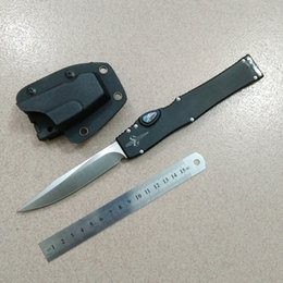 Wholesale Custom Tactical Swords - Mars Custom Micro Halo V 5 Elmax blade Abalone 6061 aluminum CNC handle 3789 Sword mark Auto survival Tactical knife 1pc