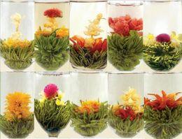 Wholesale Blooming Tea Art - Promotion!Random 18pcs of blooming tea , Chinese handmade compressed flower tea balls,2017 new art tea, health herbal tea