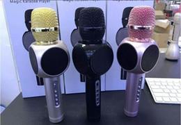 Wholesale Home Karaoke Player - DHL free E103 Portable Metal Wireless Microphone Bluetooth Handheld Karaoke player Car Home KTV Microphone Mic PK K068 K088 Q7 K1 K01 Q9
