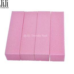 Wholesale Nail Polish Beauty Tips - Wholesale- 4pcs lot Pink Nail File Buffer Easy Care Manicure Professional Beauty Nail Art Tips Buffing Polishing Tool JITR05