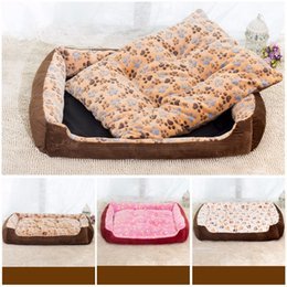 Wholesale Corduroy Fabric Wholesale - New autumn winter corduroy fabrics pet footprints modeling sofa beds small medium large cats and dogs warm nest