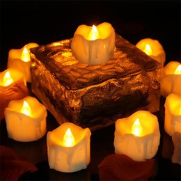 Wholesale Wholesale Led Candles Timers - Warm White Flickering Flameless Candles with Timer Christmas Wedding Party LED Candle Light Battery Operated Tea Lights Electronic Candles