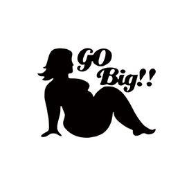 Wholesale Big Car Window Decals - 2017 Hot Sale Car Stying Sexy Fat Girls Go Big Logo Decal Window Sticker Car Accessories Jdm