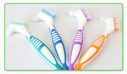 Wholesale Dual Head Toothbrush - Y-Kelin Denture Brush False tooth brush denture toothbrush soft bristles Dual brush heads antibacterial toothbrush