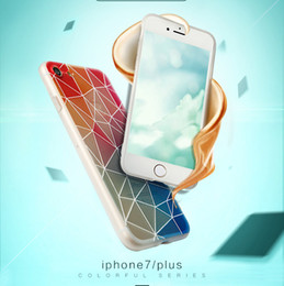 Wholesale Thin Chinese Phones - Newfangled Geometry Embossment Patterns PC+TPU Cell Phone Cases Shatter-resistant Dirt-resistant Light and Thin for Apple Phone