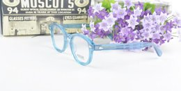 Wholesale Male Fashion Eyeglasses - New Arrived Fashion brand retro vintage brand Moscot 1915 johnny depp prescription glasses optical eyeglasses spectacle frame