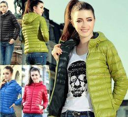 Disegno delle signore di cappotto di modo online-New Fashion Ladies Down Short Design Cappotto invernale in cotone imbottito Giacca donna Slim Solid Zipper Capispalla DF-081
