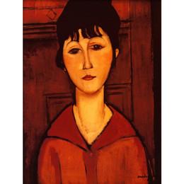 Canada Portrait peint à la main dame d'art femme dans une robe marron supplier abstract lady paintings Offre