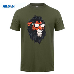 Wholesale Cool Vintage Shirts - New 2017 Men Summer Novelty COOL SUMMERISH SCAR Design T shirt Vintage Lion King Tops Hot Sales Rock Tee Shirts