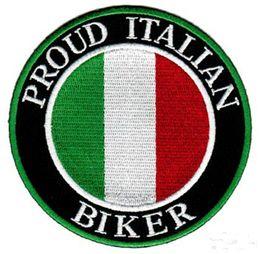 Argentina Orgulloso parche italiano de motociclista Use hierro coser en la espalda de la chaqueta y Diferencia T-mierda o bolsa de sombreros supplier used jacket Suministro