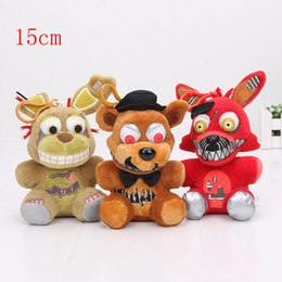 Wholesale Free Rabbit Games - 15cm FNAF Plush Five Nights At freddy's Bear Fox Rabbit Stuffed Animals toy dolls With Hook Plush Pendant EMS Free Gifts for Kids