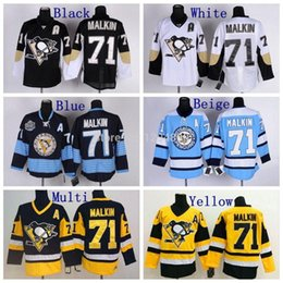 Wholesale Quick Charcoal - 30 Teams-Wholesale Charcoal Mens Ice Hockey Jersey Pittsburgh Penguins Cross Check Premier Fashion Jersey #71 Evgeni Malkin Gray jersey 0861