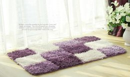 Wholesale Polyester Shaggy Rugs - Indoor Outdoor Modern Style Area Rugs Carpet Store Tiles Flooring Covering Pad Matting Decorative Beauty Doormat Softly Plush Free Shipping