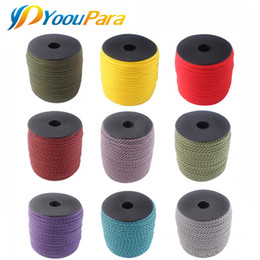 Wholesale Paracord Kits - 100FT Spools 550 Paracord 4mm Rope Cuerda Escalada Mil Spec Type III 7Strand Paracorde Cord Outdoor Campling Survival Kit