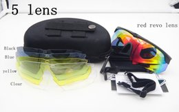 Wholesale Ess Glasses - 5 Lenses Polarizing Polarized ESS Crossbow Sunglasses Tactical Goggles Bullet-proof Glasses Cycling Outdoor Shooting Ballistic with Box