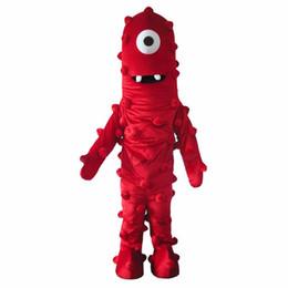Wholesale Muno Adult Costume - Best Muno Mascot Costume From Yo Gabba Gabba Dress Adult Size Free Shipping