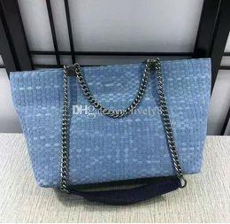 Wholesale Hobo Hand - Newest Good quality Jean Denim Ladies Hand Bags womens Big Hobo Handbags Shopper Tote Large Messenger Cross body Shoulder Bags Shopping Bags