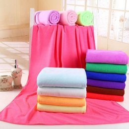 Wholesale Gym Bath Towels - beach towel Super drying Bath towels Soft Water Aborsbent Sports Gym Microfiber bath towel 140x70cm HHA31