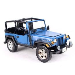 Antiquités de porcelaine en Ligne-Mettle Promotion Cadeau Chine Fabricant de Antique Taille 38x17x18 CM Jeep Modèle Bubble Car Modèle