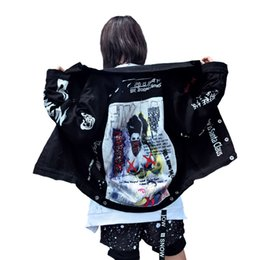 design patch per i vestiti Sconti 2017 Autunno Abbigliamento Uomo Patch Disegni Giacca di jeans High Street Hip Hop Punk Vintage Graffiti Cowboy Coat moto Outwear