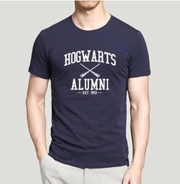 Wholesale Brand Inspired - Camping T-Shirts MEN'S Hot sale brand clothing Inspired Magic Hogwarts Alumni printed men t shirt summer casual comfortable 100% cotton