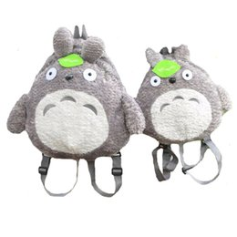 Wholesale Stuffed Animal Backpacks Children - My Neighbor Totoro Backpack Plush Bag Shoulder School Cartoon Stuffed Animal Backpack Totoro Children Mochila Escolar Infantil high quality