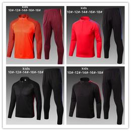 Wholesale Boys Tracksuit Zipper - 2017-2018 MESSI kids jacket Tracksuit Training Long pant 17 18 Survetement O.DEMBELE SUAREZ kids tracksuit full zipper training suit skinny